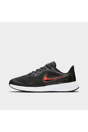 Nike Big Kids' Revolution 5 Power Running Shoes in /Off Noir Size 5.0