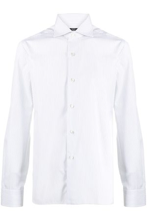 BARBA Striped cotton shirt