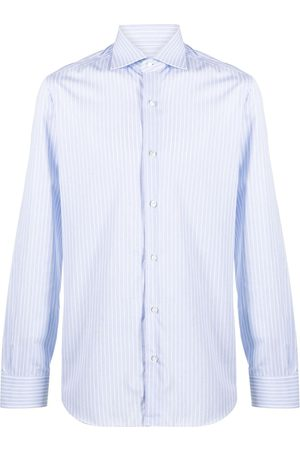 BARBA Striped cotton shirt - Neutrals