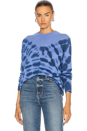 THE ELDER STATESMAN Ink Blot Tranquility Crew Sweater in ,Ombre & Tie Dye