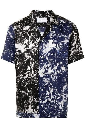 Ports V Marble-print button-down shirt