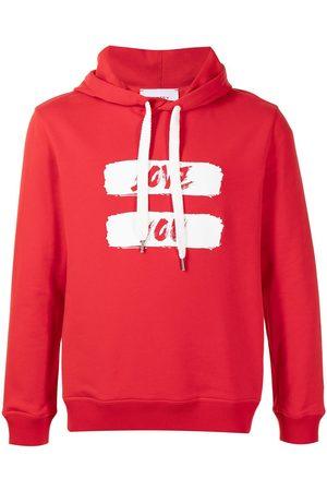 Ports V Logo-print drawstring hoodie