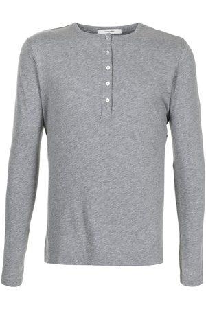 ADAM LIPPES Long-sleeved cotton T-shirt - Grey