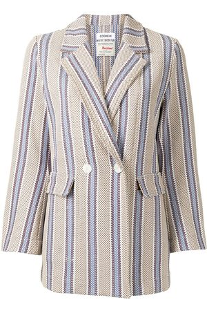 Coohem Double-breasted tweed striped blazer