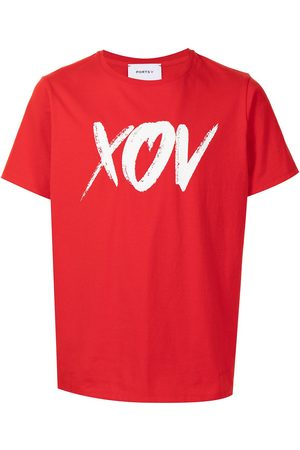 Ports V Slogan-print short-sleeved T-shirt
