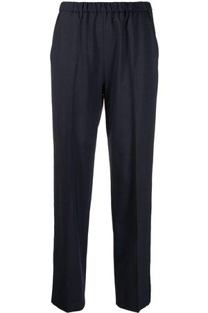 LORENA ANTONIAZZI Side-stripe straight-leg trousers