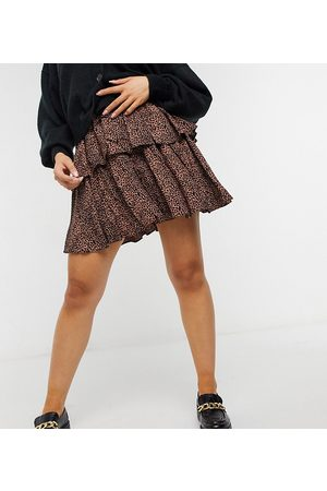 Y.A.S Mini skirt with tiering in animal print-Multi