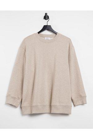 & OTHER STORIES & organic cotton oversized sweatshirt in beige