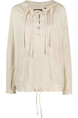 Isabel Marant Lace-up hoodie - Neutrals