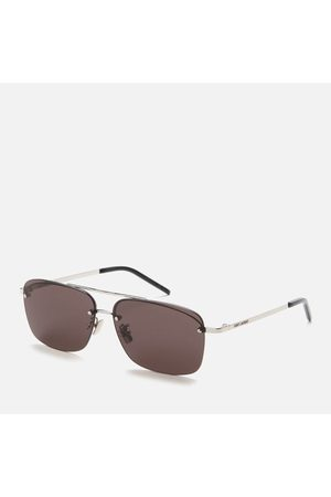 Saint Laurent Men's Sl 417 Metal Aviator Sunglasses