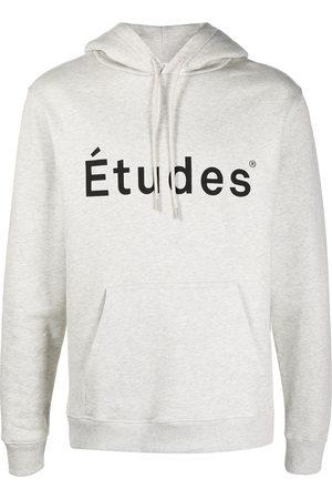 Etudes Logo-print hoodie - Grey