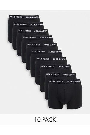 Jack & Jones 10 pack trunks with logo waistband in