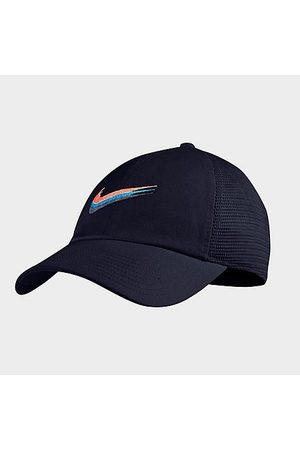 Nike Hats - Sportswear Heritage 86 Swoosh Trucker Hat in /Obsidian 100% Cotton/100% Polyester/Twill