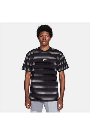 Nike Men T-shirts - Men's Sportswear Premium Essential Striped T-Shirt in / Size Small 100% Cotton/Knit