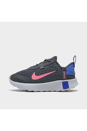Nike Girls' Toddler Reposto Casual Shoes in Grey/ Smoke Grey Size 4.0