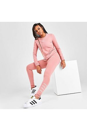 adidas Women Leggings - Women's Originals Adicolor Repeat Leggings in /Ash Size X-Small Cotton
