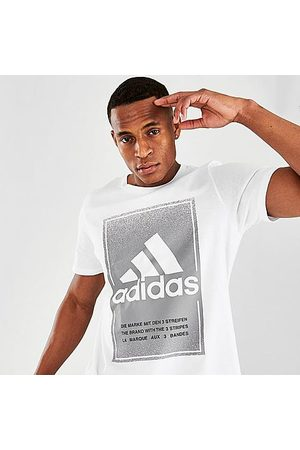 adidas Men's Badge of Sport Box T-Shirt in / Size Small 100% Cotton/Jersey