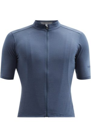 Ashmei Logo-print Merino-blend Cycling T-shirt - Mens - Navy