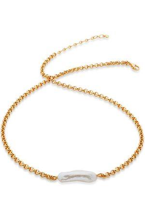 Monica Vinader Women Necklaces - Gold Nura Biwa Pearl Necklace Pearl