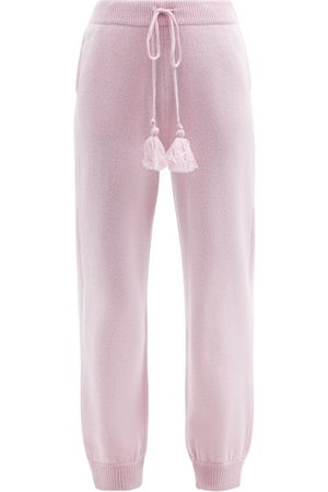 LOVESHACKFANCY Tristan High-rise Wool-blend Track Pants - Womens - Light