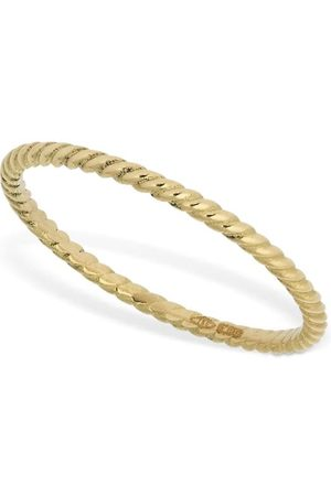AG 18kt Slim Braid Chain Ring