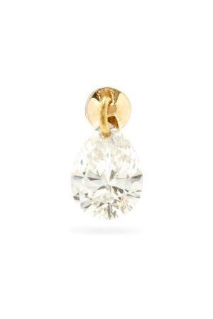 Maria Tash Women Earrings - Small Floating Diamond & 18kt Single Earring - Womens