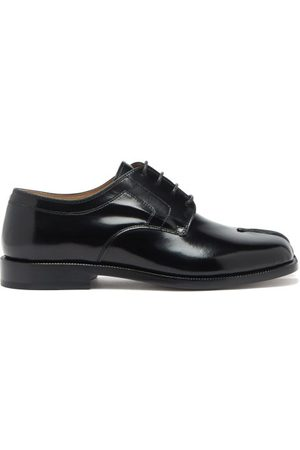 Maison Margiela Women Formal Shoes - Tabi Split-toe Leather Derby Shoes - Womens