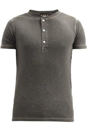 RRL Textured Cotton Henley T-shirt - Mens