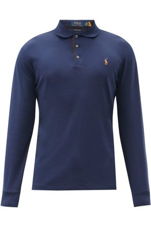 Polo Ralph Lauren Custom Slim-fit Cotton Long-sleeved Polo Shirt - Mens - Navy