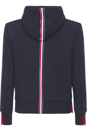 Thom Browne Hooded Cotton Jersey Sweatshirt