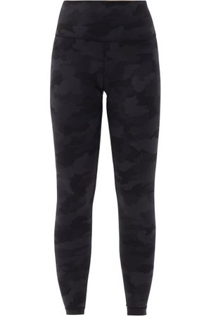 "Lululemon Women Leggings - Wunder Under Camouflage High-rise 28"" Leggings - Womens - Dark Grey"