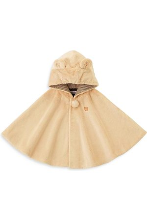 Miki House Unisex Faux Fur Hooded Poncho - Baby