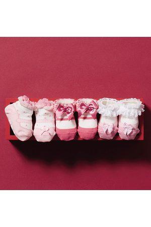 Miki House Girls' Socks Gift Set, 3 Pack - Baby