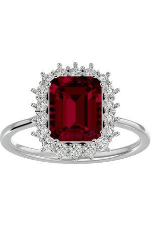 SuperJeweler 3 1/5 Carat Ruby & Halo 18 Diamond Ring in 14K (3.70 g)