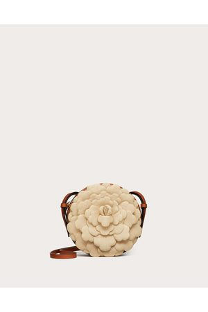 VALENTINO GARAVANI Women Shoulder Bags - 03 Rose Edition Atelier Round Crossbody Bag Women Natural/tan 100% Poliammide OneSize