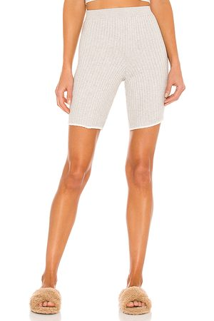 SKIN Macey Cotton Cashmere Bike Short in Grey.