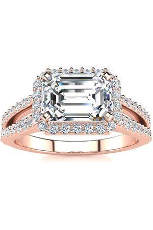 SuperJeweler 1.5 Carat Halo Diamond Engagement Ring in 2.4 Karat (3.9 g)™