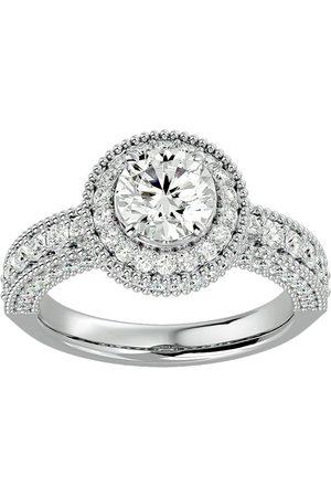 SuperJeweler Women Rings - 2.5 Carat Halo Diamond Engagement Ring in 2.4 Karat (3 g)™ (