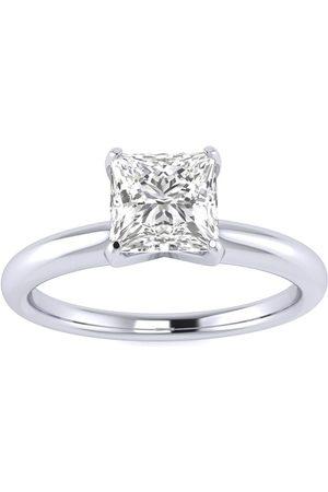 SuperJeweler Women Rings - 3/4 Carat Princess Cut Diamond Solitaire Engagement Ring in 2.4K ™