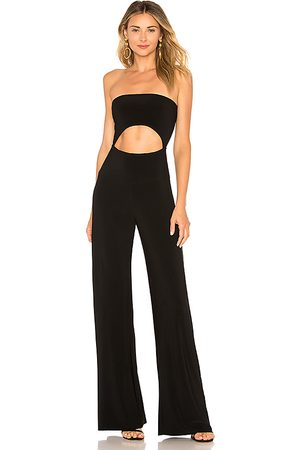 Norma Kamali Strapless Cut Out Jumpsuit in .