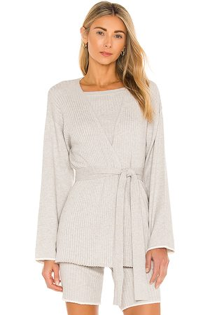 SKIN Marissa Cotton Cashmere Cardigan in Grey.