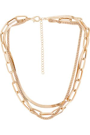 8 Other Reasons 109 Layered Necklace in Metallic .