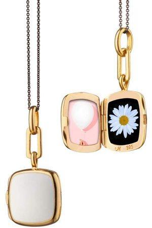 Monica Rich Kosann Enamel Cushion Locket Necklace