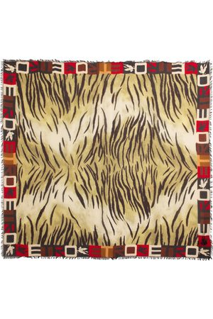 Etro Women Scarves - Tiger-print modal and cashmere scarf