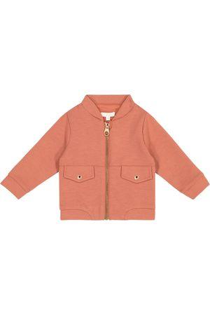 Chloé Baby embroidered zip-up sweatshirt