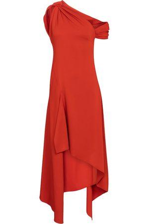 MONSE Asymmetric crêpe midi dress