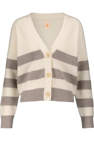 Jardin des Orangers Women Cardigans - Striped wool and cashmere cardigan