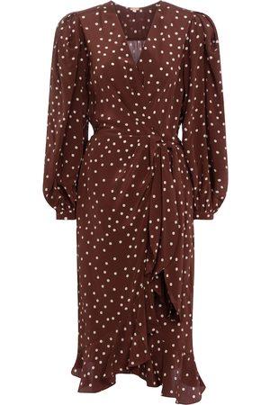 JOHANNA ORTIZ Geography Of Life polka-dot crêpe wrap dress