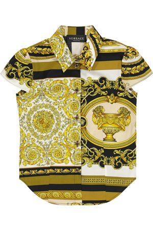 VERSACE Girls Shirts - Barocco Mosaic cotton shirt