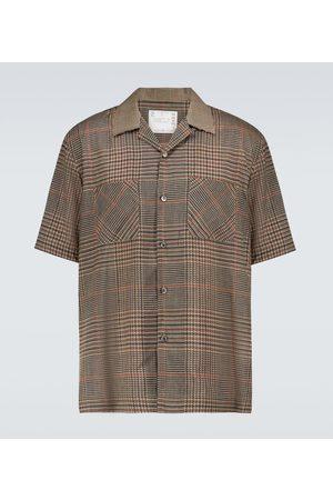 SACAI Men Short sleeves - Glencheck Mix short-sleeved shirt